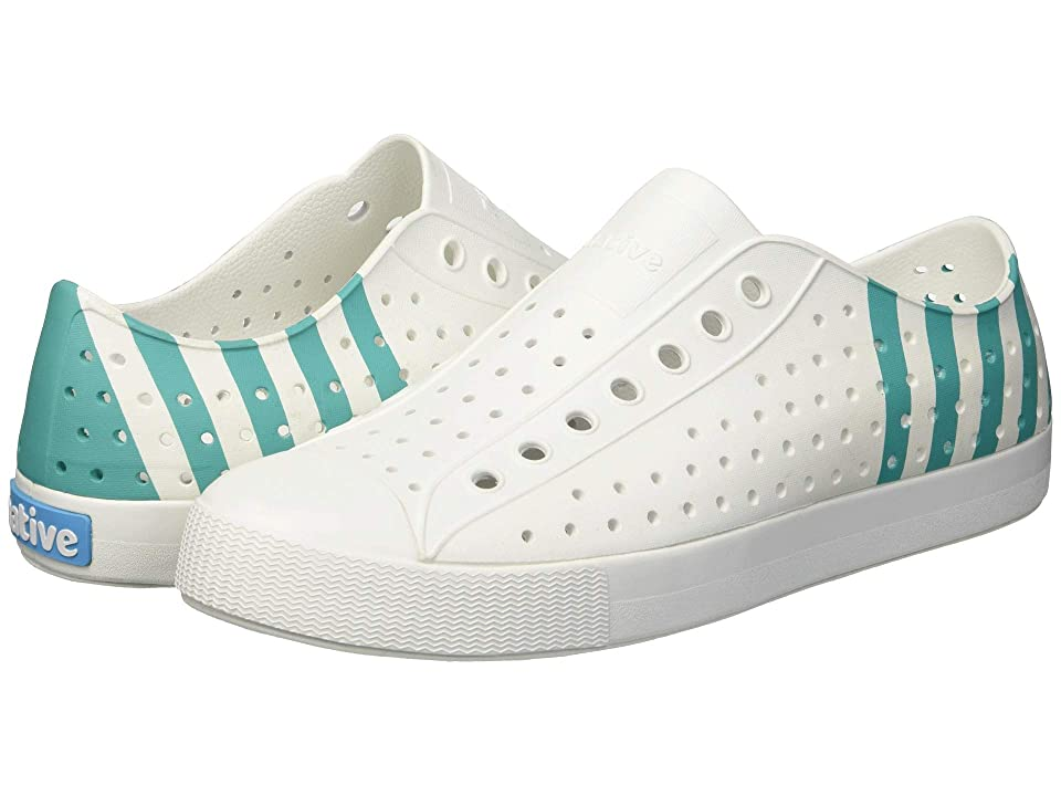 Native Shoes Jefferson (Shell White/Shell White/Glacier Stripe) Shoes
