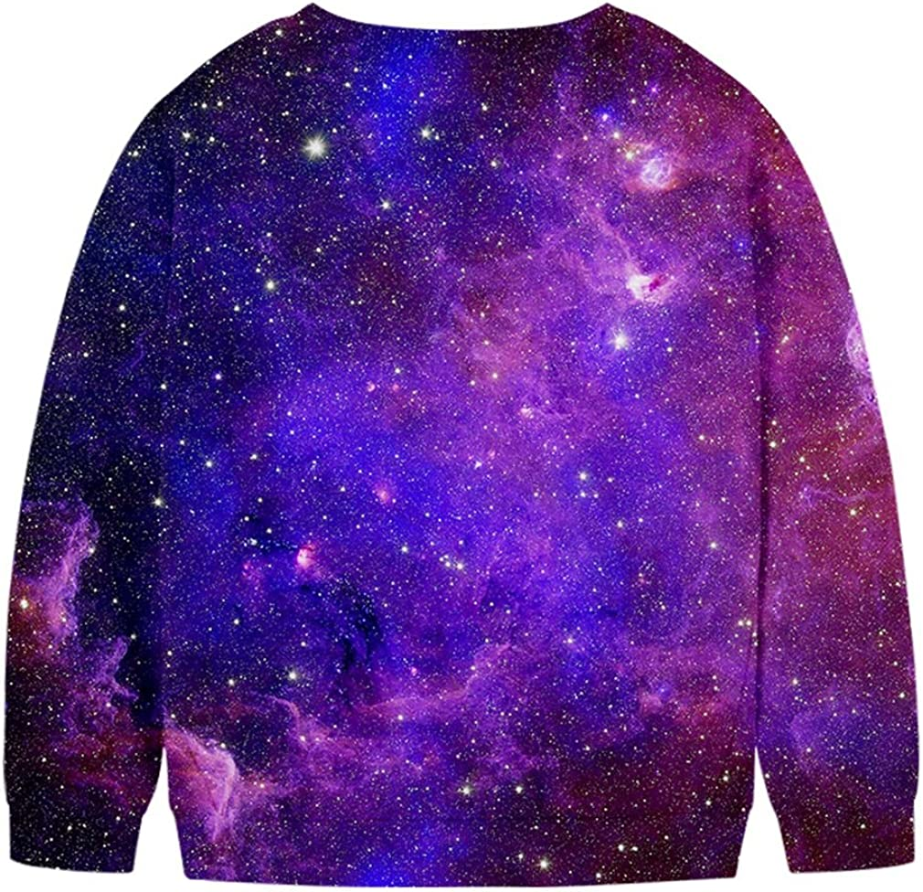 SAYM Girls/' Fleece Galaxy Crew Kid Long Sleeve Hoodies Youth Sweatshirts