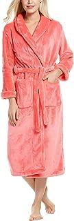 Ekouaer Robe Fleece Pajama Loungewear Winter Warm Bathrobe Shawl Collar Sleepwear for Women