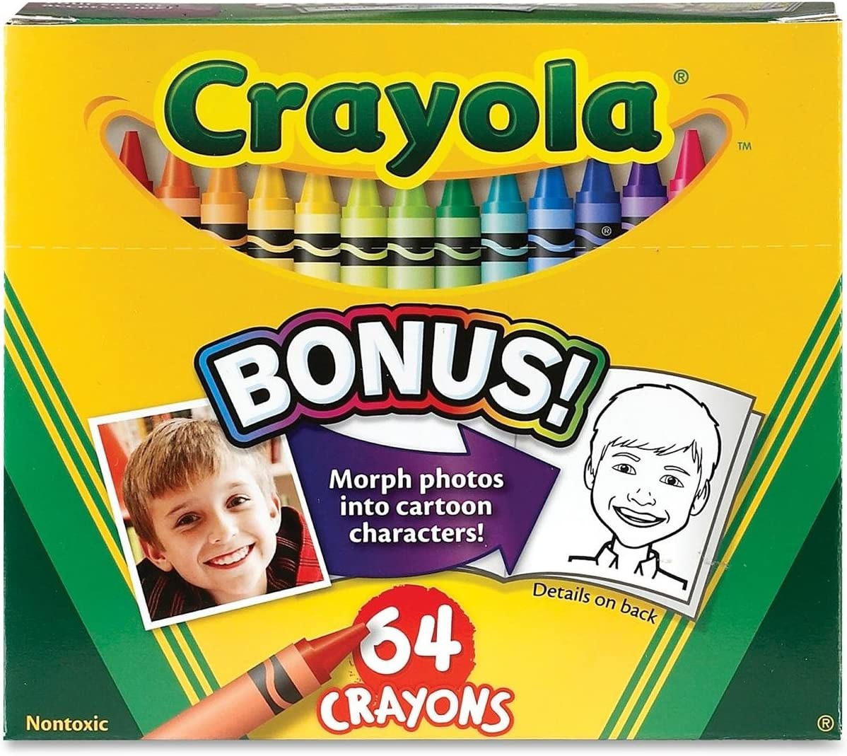 Crayola Crayons w San Francisco Mall Ranking TOP11 Built In Sharpener Items Ord 64 3 Pkg 52-064D;