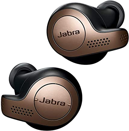 Jabra Elite 65t Earbuds – Alexa Enabled, True Wireless Earbuds with Charging Case, Copper Black – Bluetooth Earbuds Engineered for the Best True Wireless Calls and Music Experience