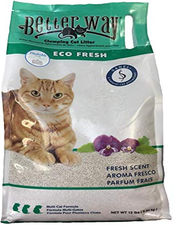Better Way Eco Fresh Clumping Cat Litter Formerly Better Way Flushable Cat Litter 12lb Bag Amazon Ca Pet Supplies