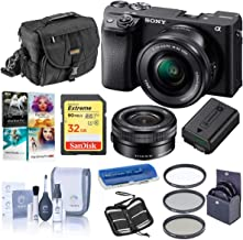 Sony Alpha a6400 24.2MP Mirrorless Digital Camera with 16-50mm f/3.5-5.6 OSS Lens - Bundle with Camera Case, 32GB SDHC Card, 40.5mm Filter Kit, Cleaning Kit, Card Reader, Memory Wallet, PC Software