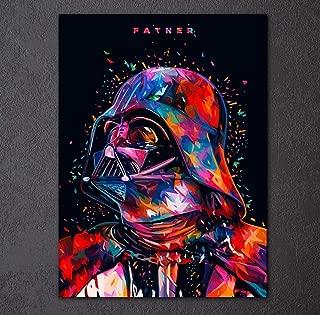 Framed Colorful Darth Vader Master Jedi Stromtrooper Canvas - 1 Piece & 5 Piece Canvas Art for Office & Home Wall Decor … (60x80cm Darth Vader)