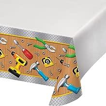 Creative Converting 322297 Border Print Plastic Tablecover, 54