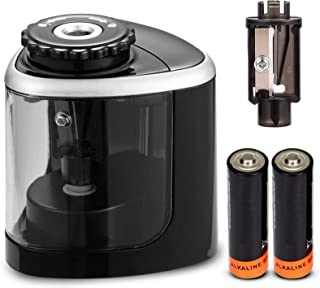 Pencil Sharpeners, Electric Pencil Sharpener for Battery-Powered, Fast Sharpen, Suitable..