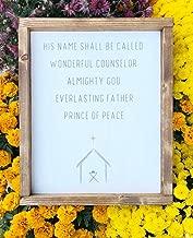 His Name Shall Be Called Wonderful Counselor Wood Sign Farmhouse Christmas Decor Printed Nativity Minimalist Christmas Wood Sign