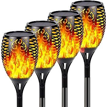 12LED Outdoor Solar Torch Dance Flickering Flame Light Garden Waterproof Lamp