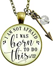 joan of arc necklace i am not afraid
