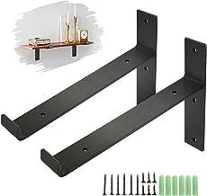 king do way Metalen Planksteun, Industriële Plank Hoekbeugels Beugels voor Rustieke Plank, Steigerbord, Wandgemonteerde Vi...