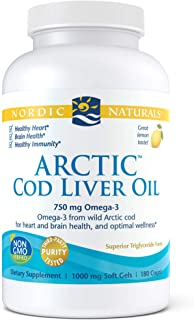 Nordic Naturals - Arctic CLO, Heart and Brain Health, and Optimal Wellness, 180 Soft Gels (FFP) - coolthings.us