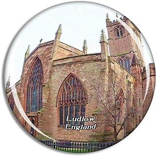 Ludlow St Laurence's Church UK England Fridge Magnet Travel Gift Souvenir Collection 3D Crystal Glass Sticker