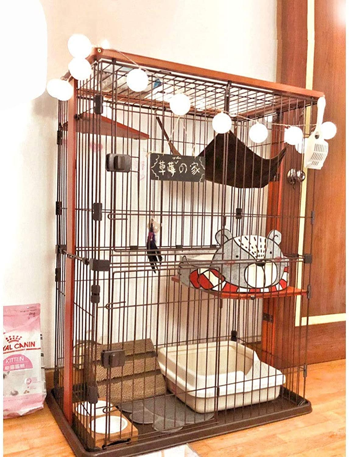 FELICIOO Cat Cage Cat Cage Cat Villa Threelayer Cat Cage (color, Size   M)