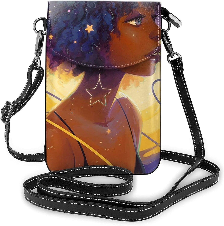 NiYoung Passport, Credit Card Universal Phone Carry Case Pouch - ANI-Theft Waterproof Multipurpose Clutch Bag African American Black Girls Art Wristlet Convertible Cross Body Bag