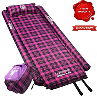 Tornado Dream PAD Self Inflating Sleeping Pads - XXL, 195cm x 87cm x 4cm Travel Sleeping Mat with Foam Pillow, Wings, Airtight Valves, Connectable Airtight Mat for Hiking, Camping