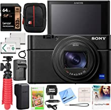 $1229 » Sony DSC-RX100M7 Cyber-Shot RX100 VII RX100M7 Premium Compact Camera Bundle with Triple 3X Battery Pack, 64GB Memory Card, Deco Gear Travel Case Accessory Kit (13 Items)