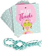 Mani Thanks Nail Polish Favor Tags – 25 pcs – Perfect for Spa Party, Bridal Shower, Baby Shower, Girls Birthday Party, Bachelorette Party, Teacher Gifts – Nail Polish Favors - Nail Polish Gift Tags