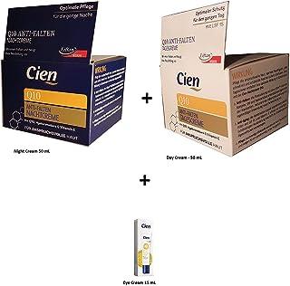 comprar comparacion Set de 3 Cremas Antiarrugas - Crema de Día y de Noche y Contorno de Ojos con Q10, Ácido Hialurónico y Vitamina E