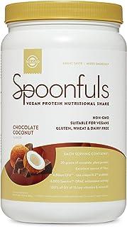Solgar Spoonfuls Vegan Protein Powder - Chocolate Coconut Flavor, 14 Servings - Nutritional Shake with Probiotics, Digesti...