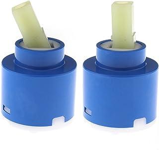 Creative-Idea 2 Cartuchos de cerámica de 40 mm para Grifo de baño, Ducha, Ducha, Ducha, Cocina, reparación de Herramientas