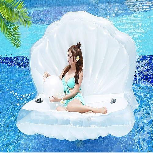 Sommer Neue Perlenschale Schwimmende Reihe Aufblasbare Spielzeuge, Schalenstuhl Schwimmendes Bett Schwimmsitz,Pool-Party-Spielzeug- 160  130cm