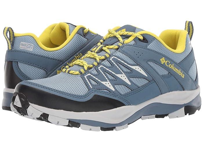 Columbia  Wayfindertm Outdrytm (Dark Mirage/Acid Yellow) Womens Shoes