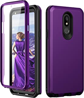 LG Stylo 5 Case,LG Stylo 5 Phone Case,SKYLMW [Built in Screen Protector] Heavy Duty Three Layer Hybrid Sturdy Shockproof Anti-Scratched Anti-fingerprint Protective Cover Cases for Stylo 5,Purple/Black