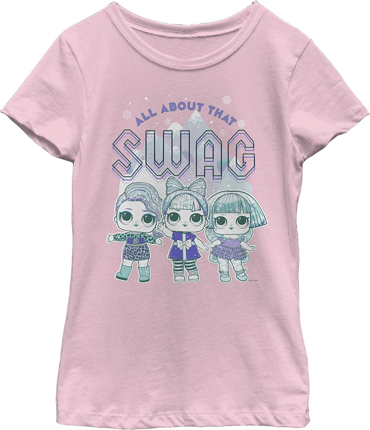 Fifth Sun L.o.l Surprise All About Swag Girl's Solid Crew Tee