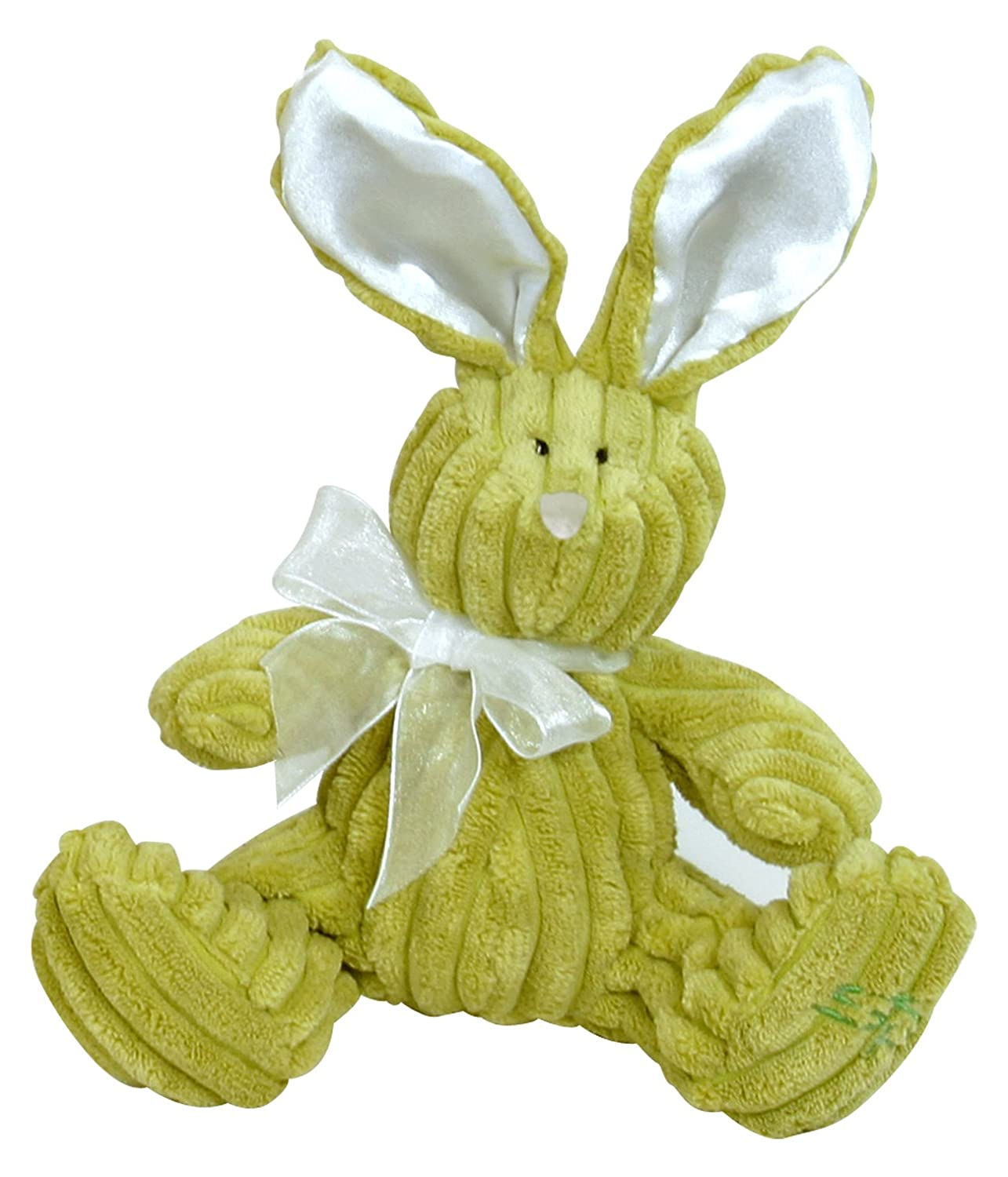 Discontinued by Manufacturer 6 Lime Stephan Baby Ultra Soft Ribbed Plush Floppy Wabbit