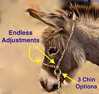 Halter-All Extra Small Miniature Donkey Mini Mule Endless Adjustable Halter & Lead USA (Horse Halter)