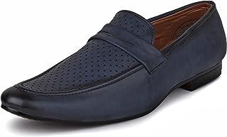 BUWCH Men Formal Tan Synthetic Leather Loafer & Mocassins Shoe