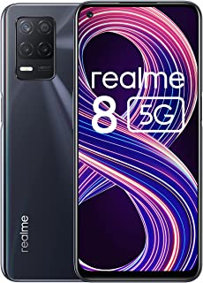 Realme 8 5G (6G+128GB) Dual SIM, グローバル版 SIMフリー, 5G 携帯電話, リフレッシュレート90Hz, 6.5インチ, 48+2+2MP トリプルカメラ, 5000mAh Fast charging 18...
