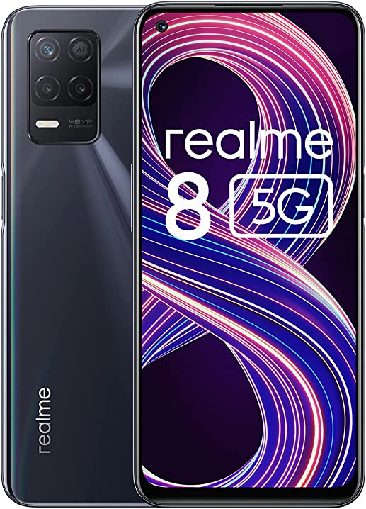 Smartphone realme 8 5g processore 5g dimensity 700 display fluido a 90 hz fotocamera 48 mp 6941399047211