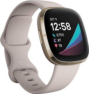 Fitbit Sense – avancerad hälsa – Smartwatch med verktyg för hjärthälsa, stresshantering och för visning av hudtemperatur –...