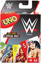 UNO Card Game, Matching WWE Superstars, for 2 to 10 Players Ages 7 Years and Older, Model Number: FNC47