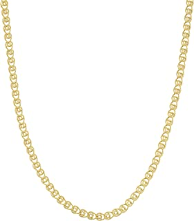 Kooljewelry 10k Yellow Gold 2 mm Love Chain Necklace (16, 18, 20, 22, 24 or 30 inch)