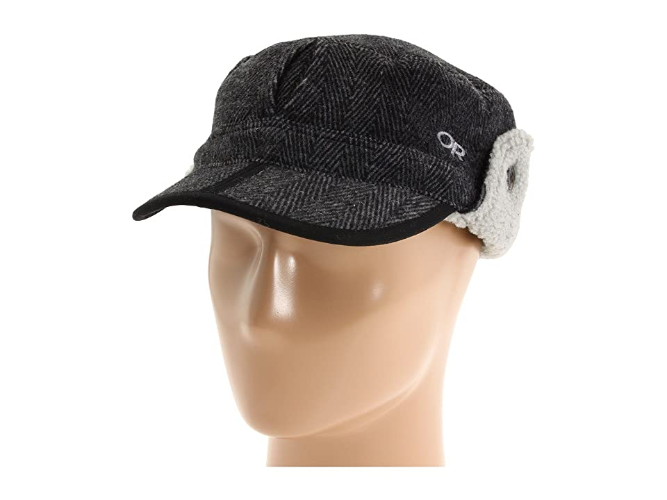 Outdoor Research Yukon Cap (Charcoal/Herringbone) Cold Weather Hats