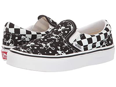 Vans Kids Classic Slip-On (Little Kid/Big Kid) ((Glow Alien) Black/True White) Boys Shoes