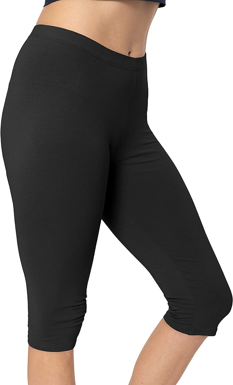 Oh So Soft Women's Plus Size Knee Length Leggings Poly Spandex Made in The USA