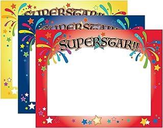 优质纸张! 8.5 英寸 x 11 英寸,60 粒 证书 Superstar