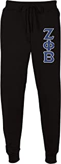 Zeta Phi Beta Embroidered Twill Letter Joggers