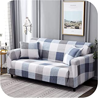 Asarahshop Stretch Slipcovers Sectional Elastic Stretch Sofa Cover for Living Room Couch Cover L Shape Armchair Cover Single/Two/Three seat,Color 3,3-Seater 190-230cm