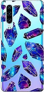 Oihxse Funda Dibujos Diamantes Brillantes Compatible Huawei Honor 8C Transparente Silicona TPU Bumper Case Ultra Delgado C...
