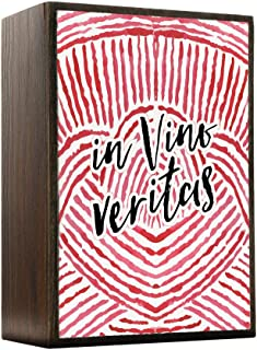 Inspired Home In Vino Veritas - In Wine There Is Truth Box Sign Size 4x5.5