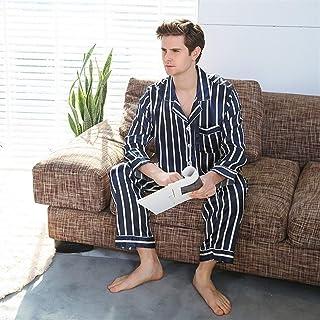 Seda de Seda de Seda para Hombre Pijamas Pijamas Hombres Ropa de Dormir Moderno Estilo Seda Nightgown Hombres Hombre Satan SAFT SAFTLE Cozy DORMENTO (Color : G, Size : XX-Large)