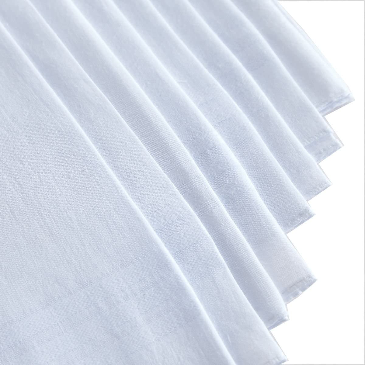 Men's Pure White 100% Cotton Handkerchief Pack Of 12 …