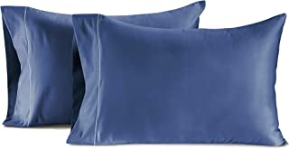 CHATEAU HOME COLLECTION Luxury 100% Egyptian Cotton 800-Thread-Count Egyptian Cotton Deep Pocket Sateen Weave, Set of 2 Standard Pillowcases - Dark Denim