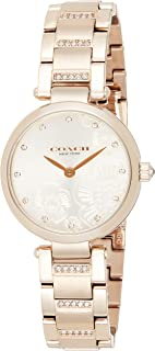ساعة يد كوارتز للنساء من الستانلس ستيل بلون ذهبي وردي من كوتش - موديل 14503626