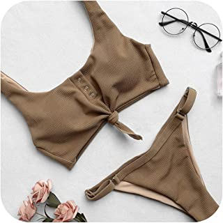 Sexy Swimwear Bikini Women V Neck Bikinis Set Pants Adjust Sport Style Bathing Suit