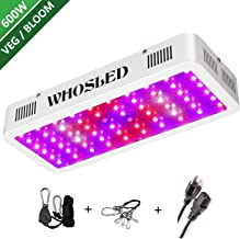 LED Grow Light 600W Dual Switch Dual Chips Full Spectrum Plant Lamp with IR and UV for Hydroponic Indoor Plants Veg and Flower